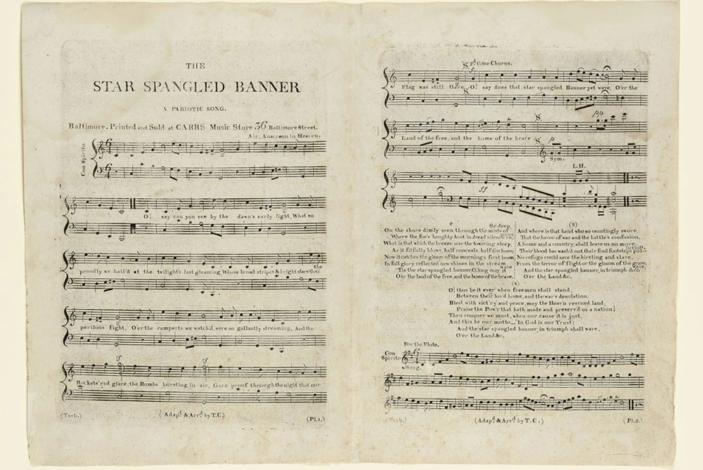 Rare First Edition of The Star Spangled Banner