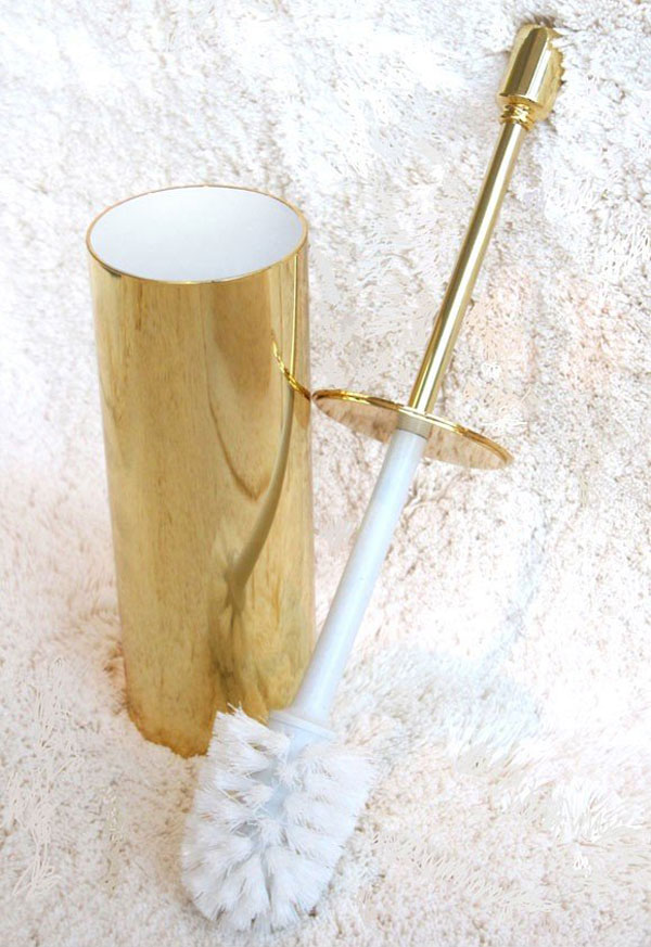 Gold Plated Rock Star Toilet Brush Holder &#8211; The World&#8217;s Most Expensive Toilet Brush Holder