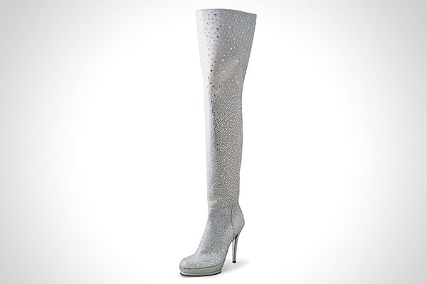 Stuart Weitzman Crystal Thigh High Boots