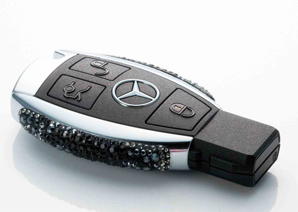 Limited Edition Hand Crafted Swarovski Mercedes Keys