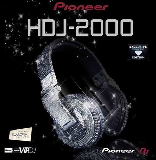 Swarowski Decorated Pioneer HDJ-2000 Headphones Keep all the Dancers' Eyes on You - eXtravaganzi