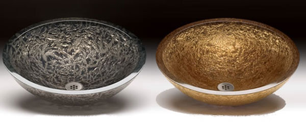 Pure Gold and Platinum Kitchen Sinks by Alchemy