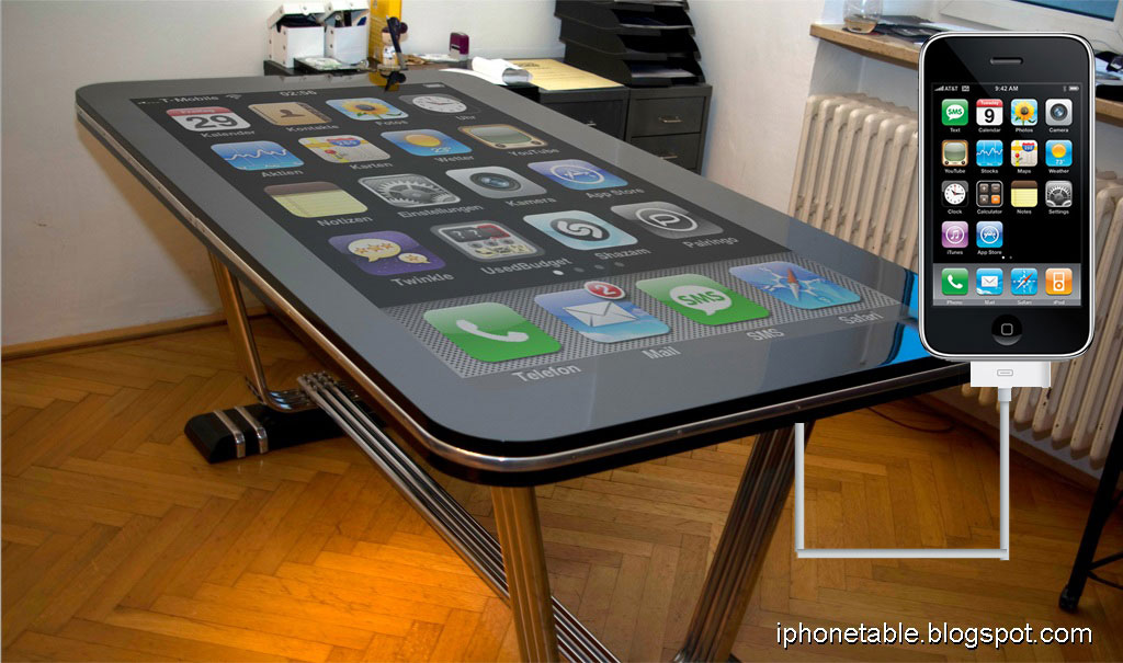 Table Connect &#8211; 58-inch iPhone Desk-sized Replica