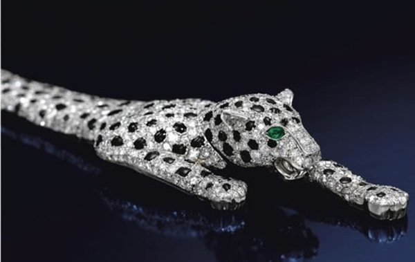 Cartier-designed diamond panther bracelet