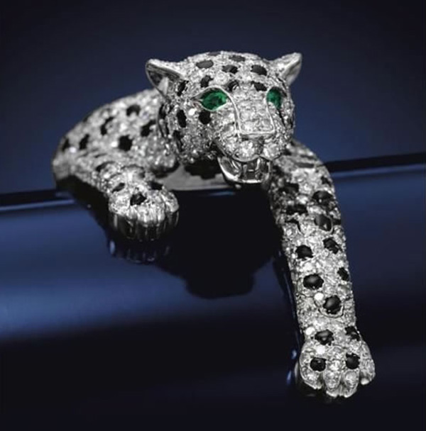 $7 Million Onyx and Diamond Panther Bracelet