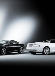 Aston Martin DB9 Carbon Black and DB9 Morning Frost