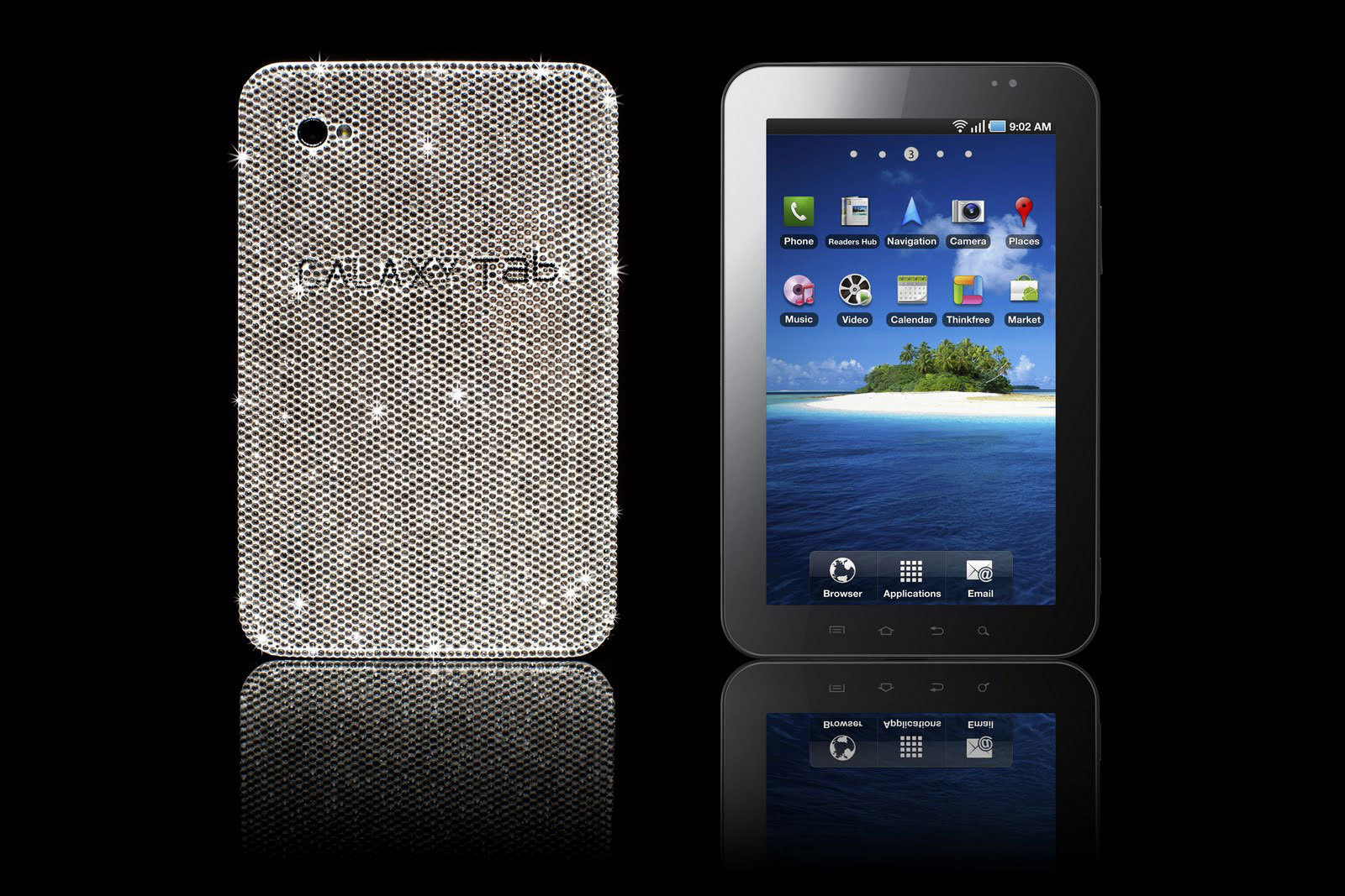 For Gadget Geeks – Crystal Encrusted Samsung Galaxy Tab