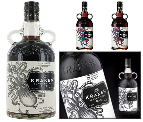 Kraken Spiced Rum &#8211; The First 3D Liquor Bottle