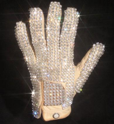 Michael Jackson's Crystal Studded Bad Tour Glove