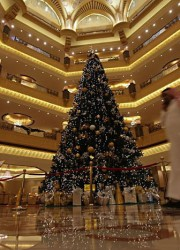 Abu Dhabi's Emirates Palace Unveils Most Expensive Christmas Tree