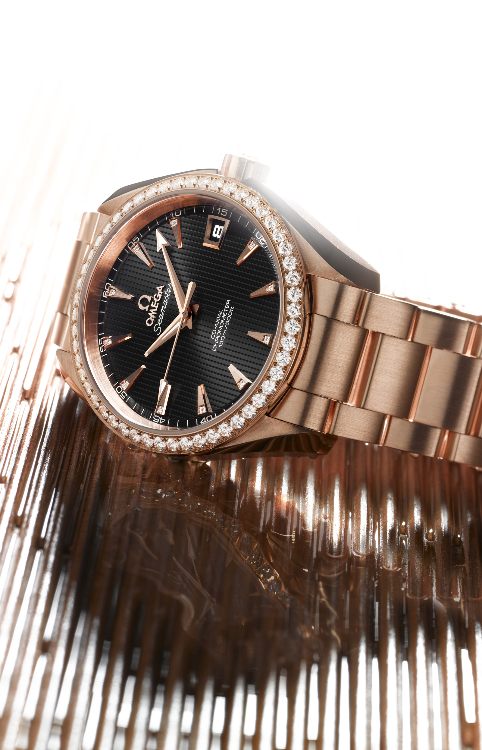 Omega Seamaster Aqua Terra Jewellery Co-Axial in 18 Ct Red Gold