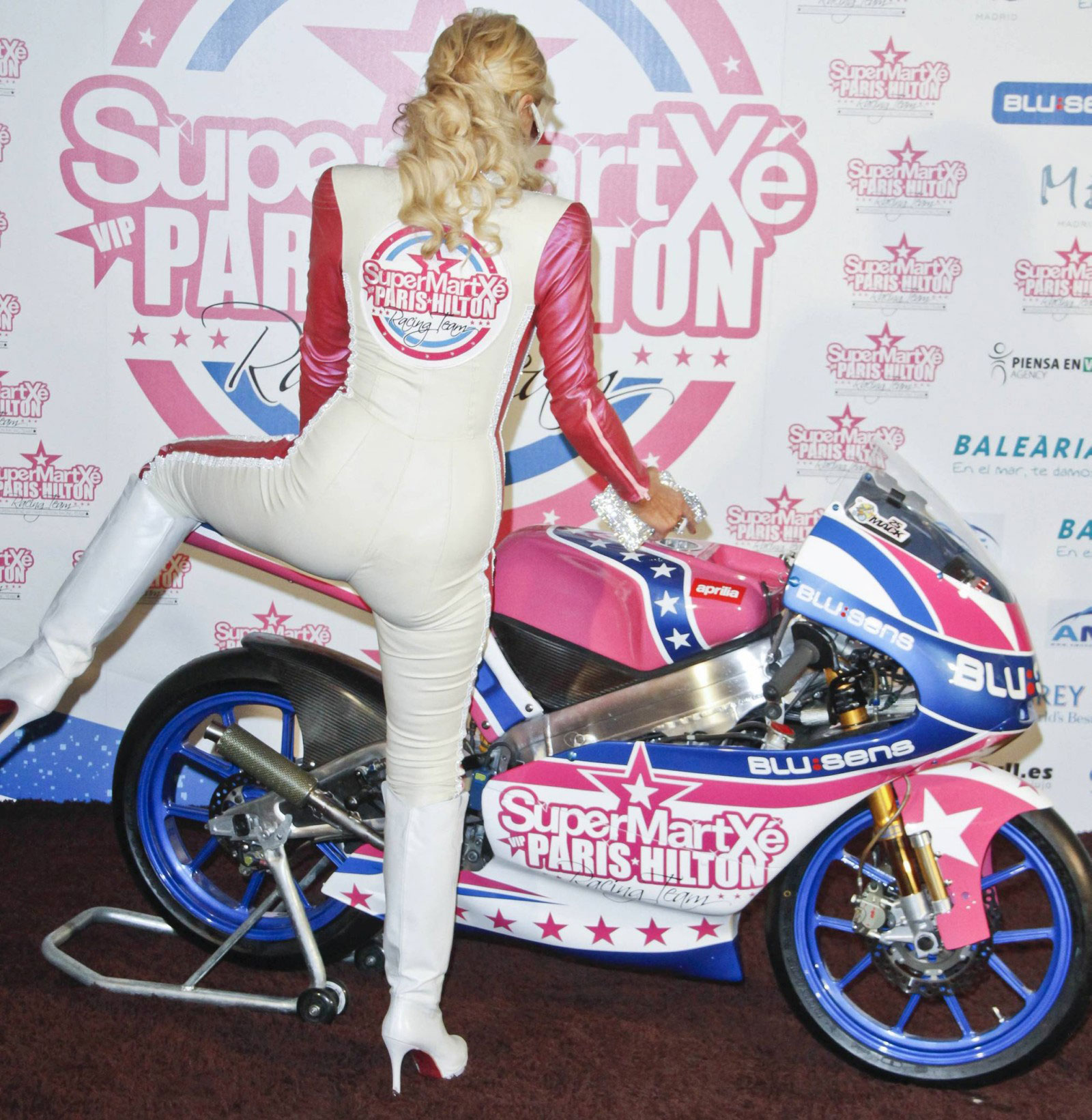 Paris Hilton at SuperMartxe VIP MotoGP Team Launch Party