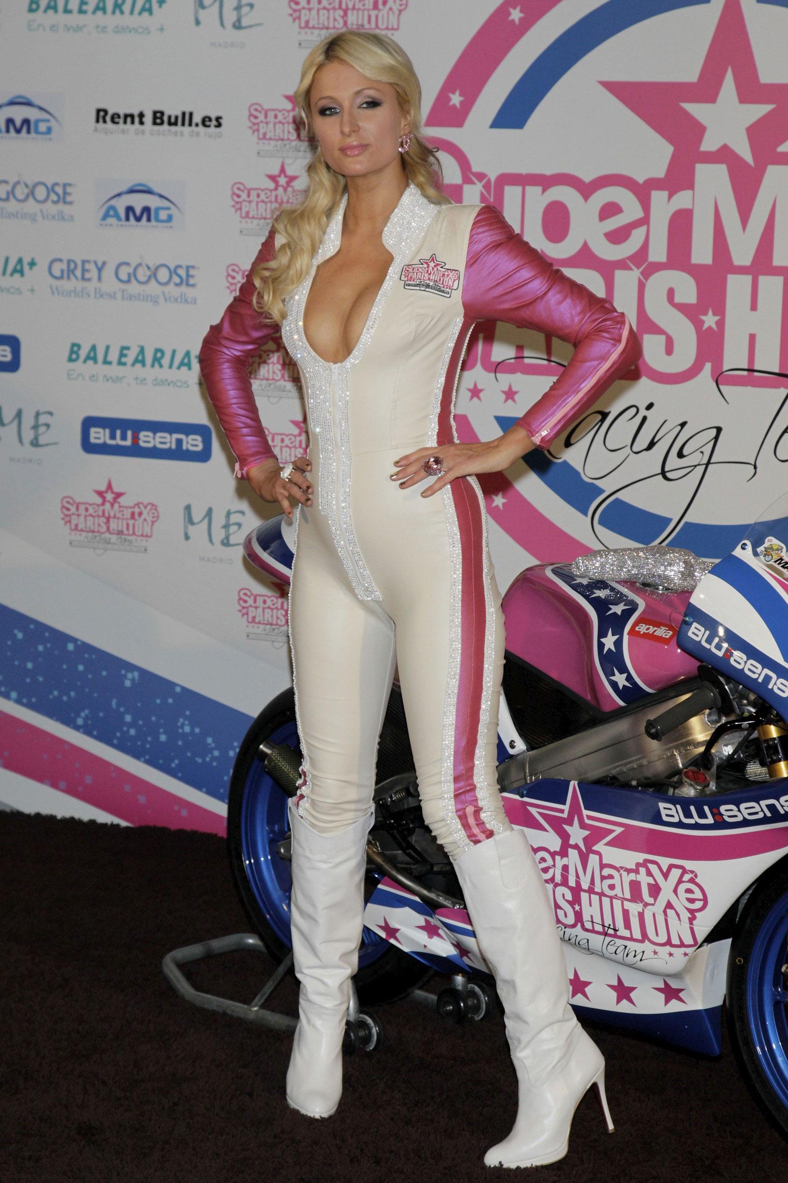Paris Hilton Launch Supermartxe Vip Motogp Team Extravaganzi
