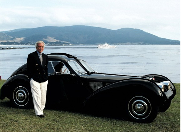 Ralph Lauren with Bugatti Type 57SC Atlantic Coupe