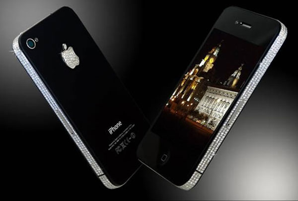 Limited Edition iPhone 4 Diamond Queen in Titanium by Stuart Hughes