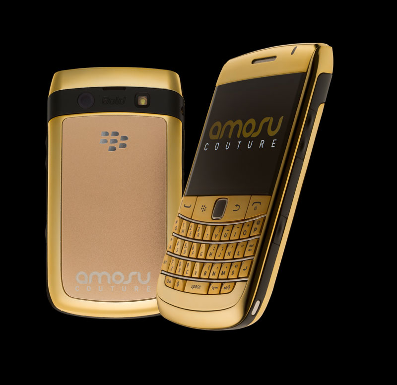 Amosu Couture Unveil BlackBerry Bold 9780 in 24 Carat Gold Plated