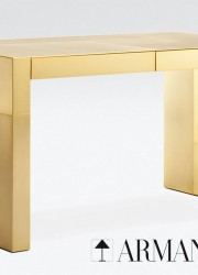Limited Edition Armani Casa's Gold-plated Adelchi Writing Desk