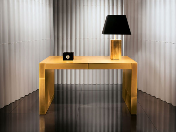 Adelchi - Gold-plated Writing Desk by Armani Casa