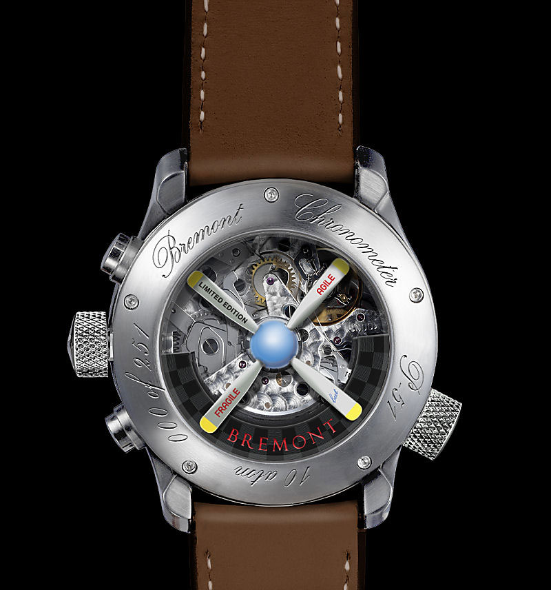 Limited Edition Bremont Mustang P-51 Watch Built with Original Parts from the 1944 Mustang WWII Aircraft