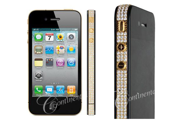 Continental-mobiles-24k-Classic-Gold-&-Diamonds-iphone-4-1