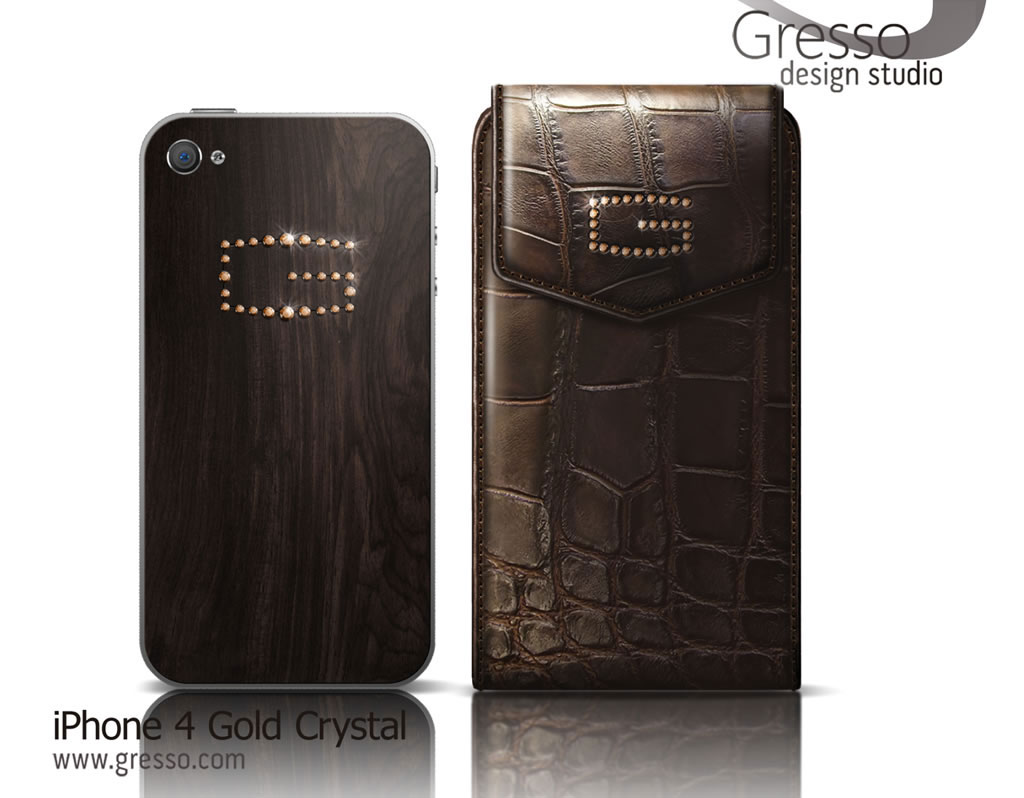 Gresso iPhone 4 Gold Crystal Collection – Gresso Makes Diamonds out of Gold