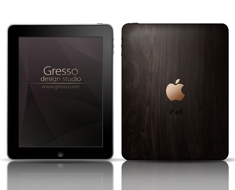Gresso iPad Covered in 200-Year-old Wood