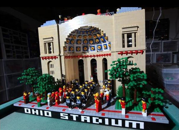 LEGO Replica of Ohio State's Stadium