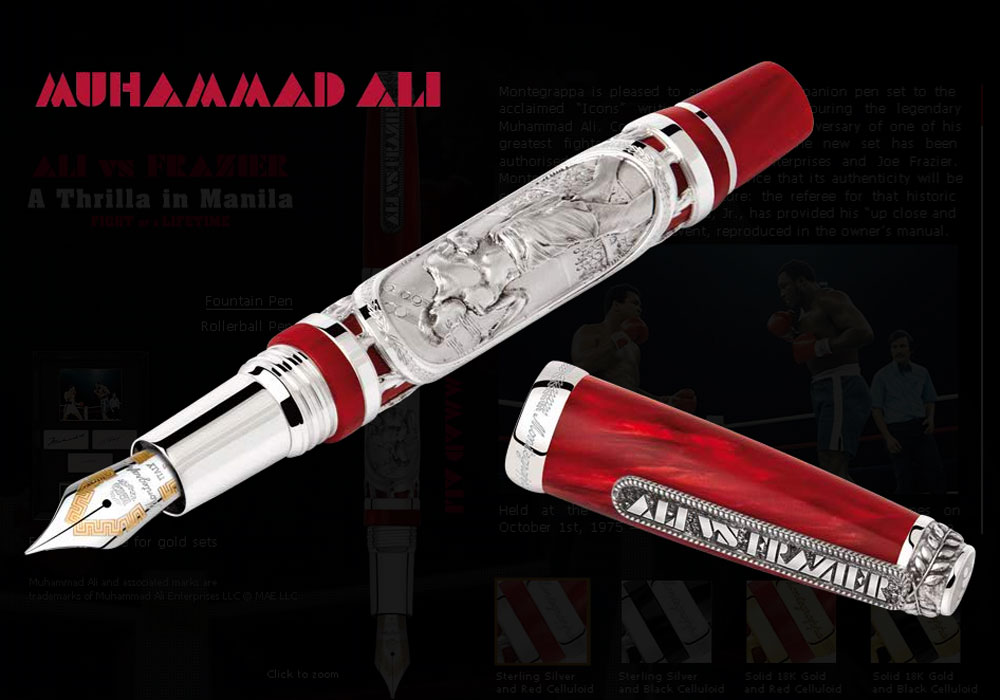 Montegrappa Set honors to Muhammad Ali and Joe Frazier with New Specialty Luxury Pen