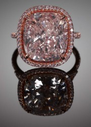 10.02 carat Natural Fancy Light Pink Diamond Ring