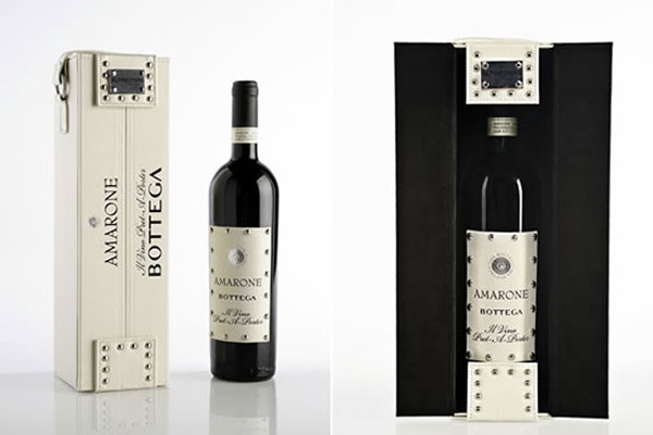 Limited Edition Amarone Bottega II Vino Pret-a-porter Wine Ships in Leather Case