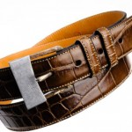 "TES Announces the Limited Edition ""Artigiano"" Series of Hand Hammered Damascus Steel and Alligator Belts"