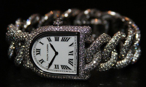 Stirrup Diamond Link Watch by Ralph Lauren