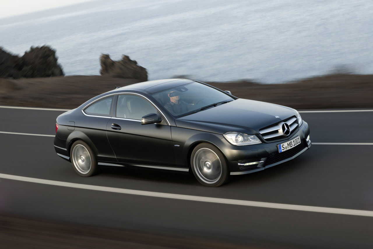 2012 mercedes benz c class coupe officially revealed for Benz mercedes c class