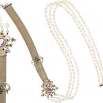 22 Carat Gold Pearl Belt-Cum-Necklace Glitters With Swarovski Crystals Launched By Valentino