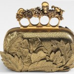 Alexander McQueen Four Finger Flower Leather Clutch
