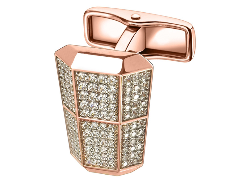 Alfred Dunhill London Lantern &#8211; Pink Gold, Diamond Cufflinks