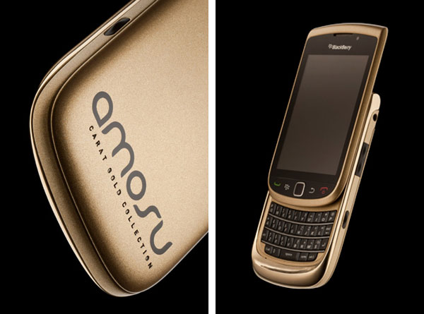 Solid Gold BlackBerry Torch by Alexander Amosu