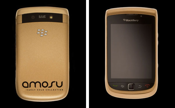 Amosu's Solid Gold BlackBerry Torch