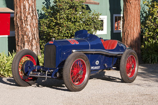 Ann Bothwell's 1914 Peugeot L45, winner of the 1916 500 Sweepstakes