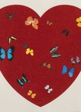 Damien Hirst Celebrates Valentine's Day Creating Big Love With Diamond Dust
