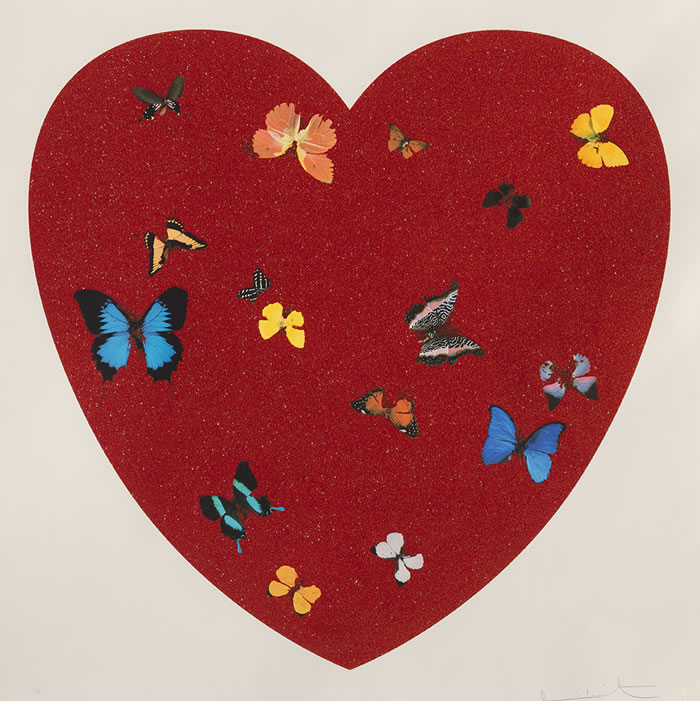 Damien Hirst Celebrates Valentine&#8217;s Day Creating Big Love With Diamond Dust