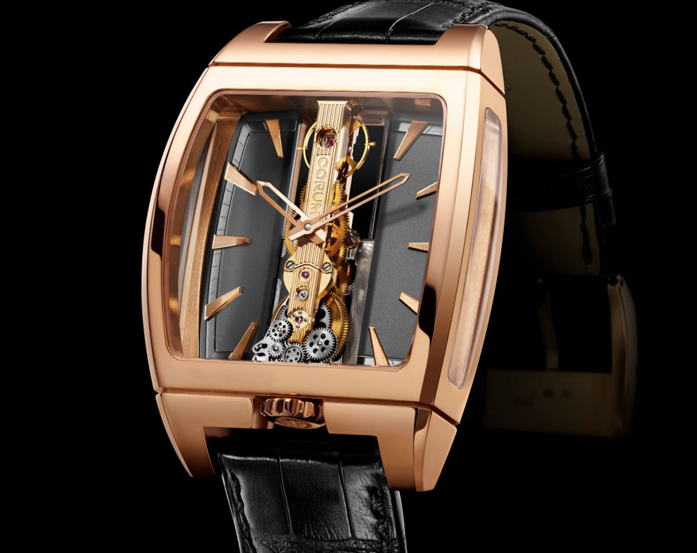 Limited Edition Corum Golden Bridge Automatic Watch
