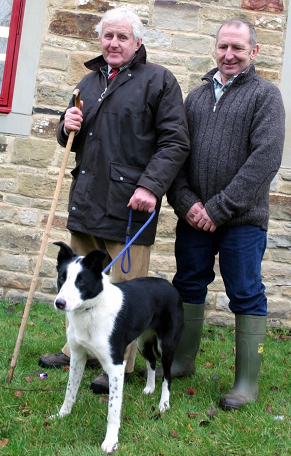 John Bell and David Streeter with Dewi Fan, Working Sheep Dog