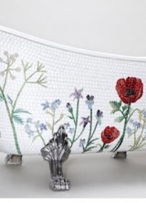 Swedish Mosaic Bathtub Will Bloom Your Bathroom