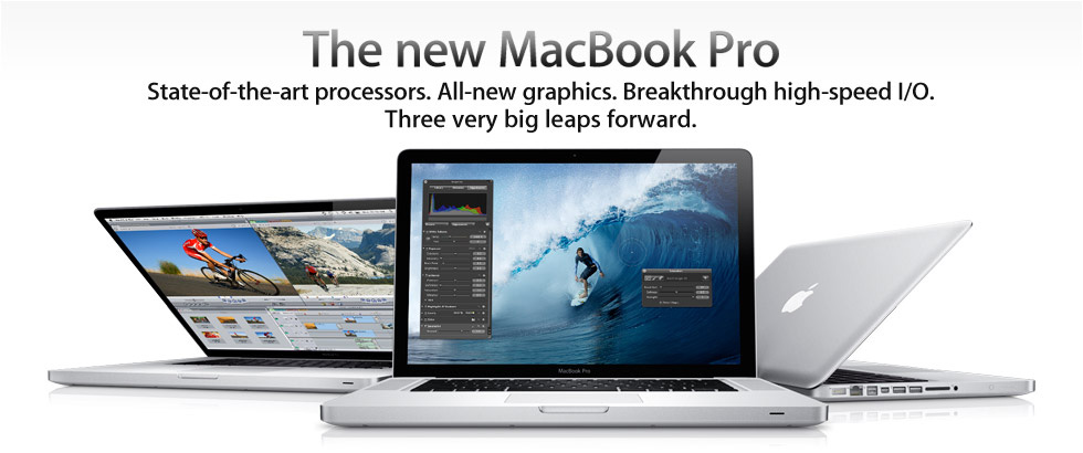 Apple Updates MacBook Pro with Next Generation Processors, Graphics and Thunderbolt I/O Technology