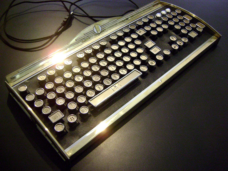New Yorker Art Deco Keyboard by Datamancer