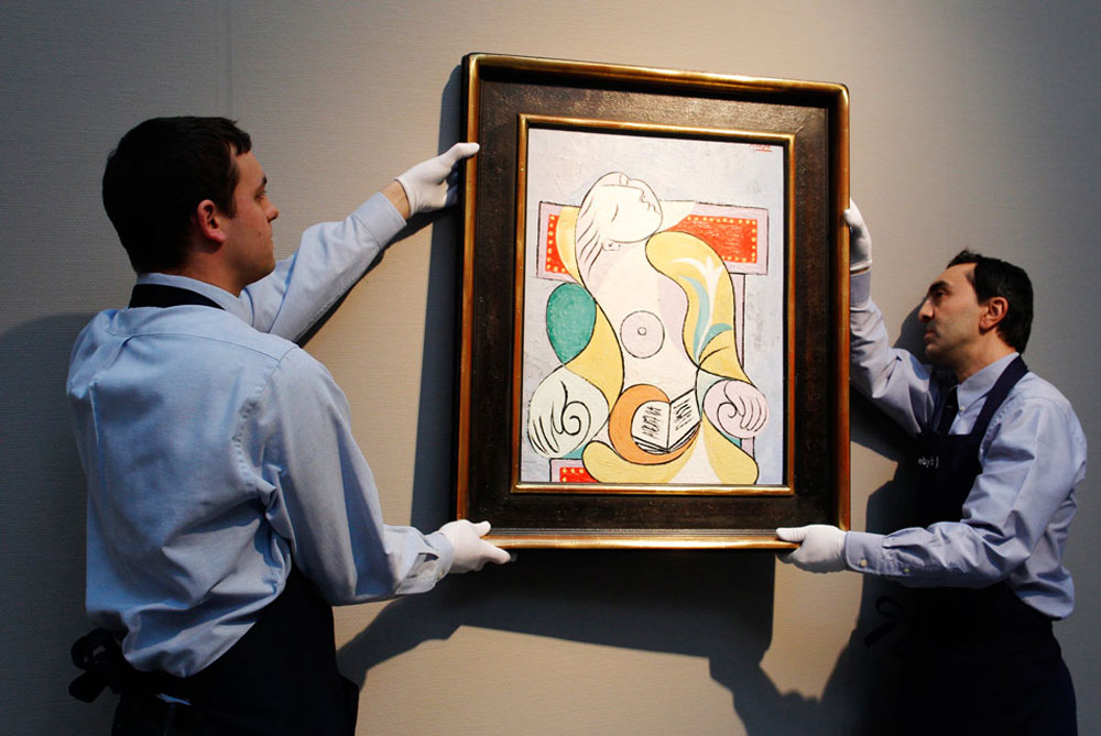 "Picasso's Painting ""La Lecture"" at Sotheby's in London"