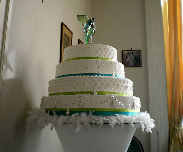 Wedding Cake Decorated With 500 Swarovski Crystals