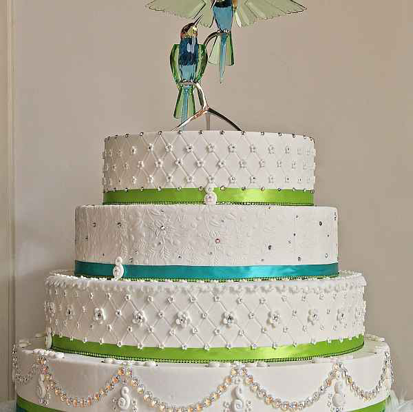Who wouldn't want a wedding cake with bling Wedding cake jewelry will