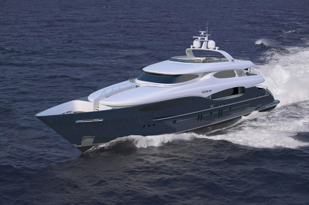 Vicem Yachts - Vulcan 46 M Tri-Deck Yacht